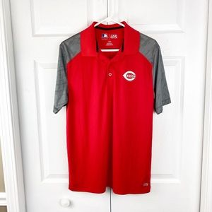 Cincinnati Reds Embroidered Logo TX3 Cool Shirt